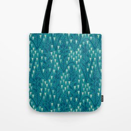 Botanical pattern with triangles and dots Tote Bag