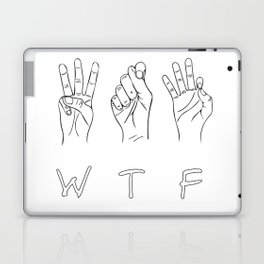 What the fuck sign Laptop & iPad Skin