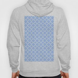 Pale Blue Moroccan Style Design Hoody