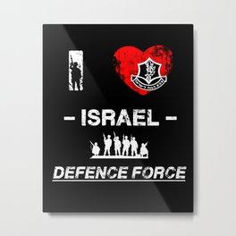 I Love IDF Metal Print
