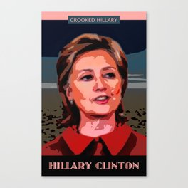 Crooked Hillary Canvas Print