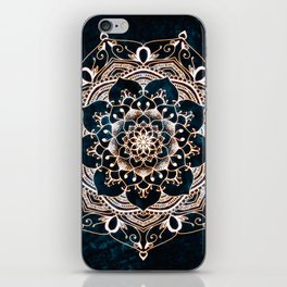 Glowing Spirit Mandala Blue White iPhone Skin