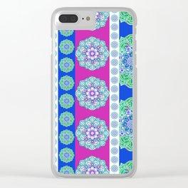Magenta Mandala Clear iPhone Case