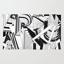 History of Art in Black and White. Conceptualism Rug