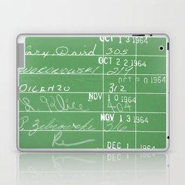 Library Card 23322 Negative Green Laptop & iPad Skin