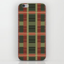 Holiday Plaid iPhone Skin