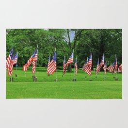 Flags Flying in Memoriam Rug