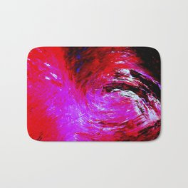 Abstract Red Storm by Robert S. Lee Bath Mat