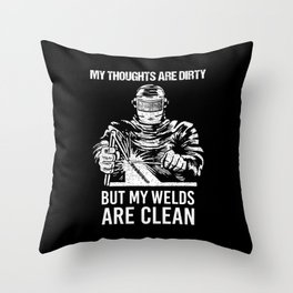 Clean Welds Throw Pillow