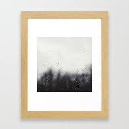 Rain Drops Framed Art Print