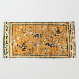 Suiyuan Province Chinese Pictorial Rug Print Beach Towel