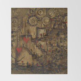 Steampunk Manufactured Love Throw Blanket
