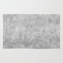 Soft Gray Clouds Texture Rug