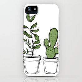 Three Little Succulents iPhone Case