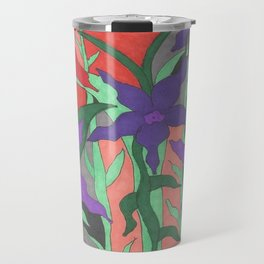 Twilight Sun Garden Floral Art Travel Mug
