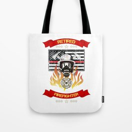 Retired Firefighter Thin Red Line Professional Hero Retirement Gift Tote Bag