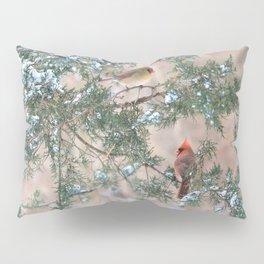Winter Pair Cardinals (v) Pillow Sham