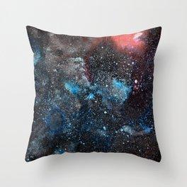 Abstract Cosmos Watercolor Art Throw Pillow