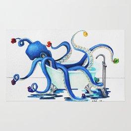 Bath Time Blue Rug