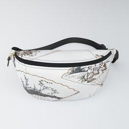 Mutamagawa senmen harimaze Hokusai Katsushika Ukiyo-E Japanese Fanny Pack