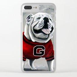 UGA Georgia Bulldogs Mascot Clear iPhone Case