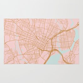 New Haven map, Connecticut Rug