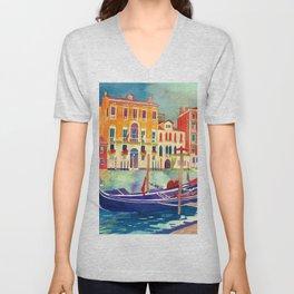 sunshine in Venezia Unisex V-Neck