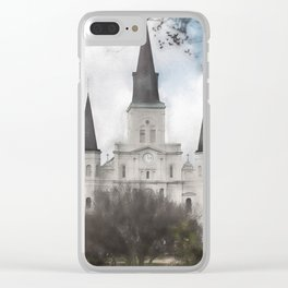 St. Louis Cathedral-New Orleans, Louisiana Clear iPhone Case