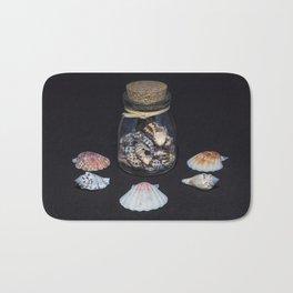 Sea shells in a bottle Bath Mat