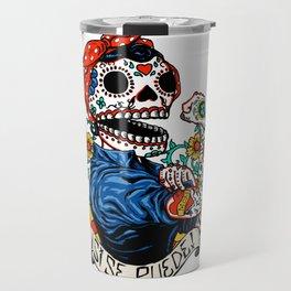 We Can Do It Skull Travel Mug