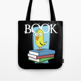 Book (white txt) Tote Bag
