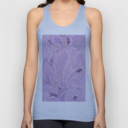 paisley purple Unisex Tank Top