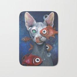 Cat And Fish Bath Mat