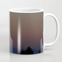 Mount Rainier Moon Rise Coffee Mug