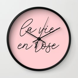 life in rosy hues, life in pink Wall Clock