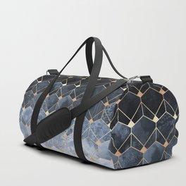 Blue Hexagons And Diamonds Duffle Bag