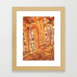 journey of color - orange Framed Art Print