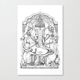 Ganesha Lineart Canvas Print