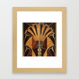 art deco wood Framed Art Print