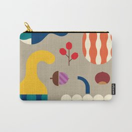 Autumn Gourds Gold Carry-All Pouch