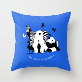 Colorful World! Throw Pillow