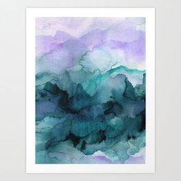 Dream away abstract watercolor art print