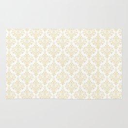 Elegant vintage pastel colors boutique floral damask stylish pattern Rug
