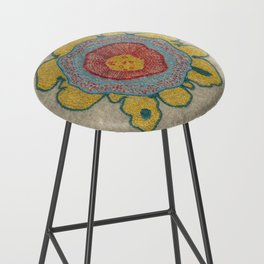 Growing - Pinus 1 - plant cell embroidery Bar Stool