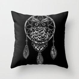 Dream Catcher Owl Throw Pillow