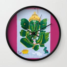 Pan Leaf Ganesh Wall Clock