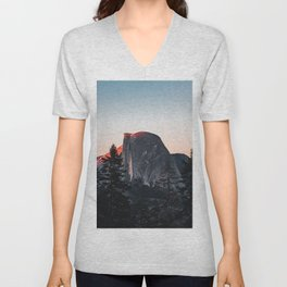 Last Light at Yosemite National Park Unisex V-Neck