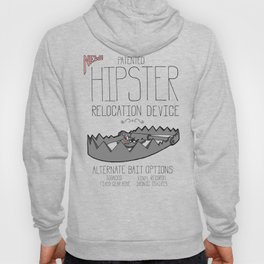 Hipster Relocation Device Hoody