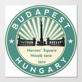 Budapest, Heroes' Square, Hosök tere, Hungary, circle, green Canvas Print