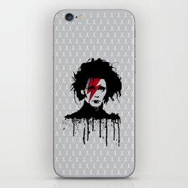 Edward scissorhands #on grey iPhone Skin